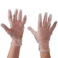Powdered Vinyl Gloves - Clear - 3 Mil - Small