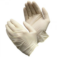 Industrial Powdered Latex Gloves - White - 5 Mil - Small
