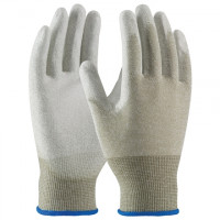 ESD Nylon Gloves - Palm Coated, Large