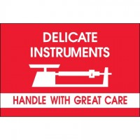 """ Delicate Instruments - HWC"" Labels with Graphic, 2 x 3"""