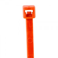 "Cable Ties, Fluorescent Red Nylon - 5 1/2"", 40#"