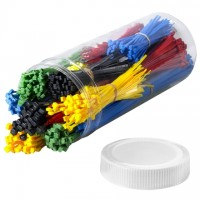 Cable Tie Kit, Assorted Colors