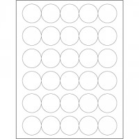 """Glossy White Laser Labels, 1 1/2"""""""