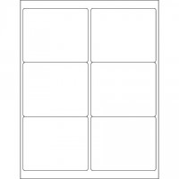 """Glossy White Laser Labels, 4 x 3 1/3"""""""
