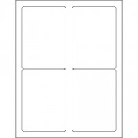 """Glossy White Laser Labels, 3 1/2 x 5"""""""