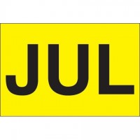 "Fluorescent Yellow ""JUL"" Inventory Labels, 2"" x 3"""