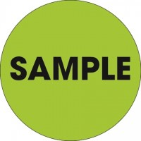 """Fluorescent Green """"Sample"""" Circle Inventory Labels, 2"""""""