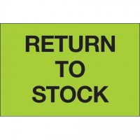 """Fluorescent Green """"Return To Stock"""" Inventory Labels, 2 x 3"""""""
