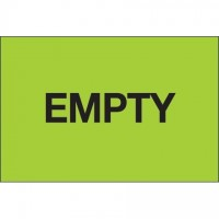 """Fluorescent Green """"Empty"""" Inventory Labels, 2 x 3"""""""