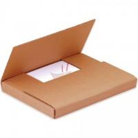 "Easy-Fold Mailers, 24 x 18"", Multi-Depth Heights of 1/2, 1, 1 1/2, 2"", Kraft"