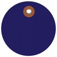 Blue Plastic Circle Tags - 3""