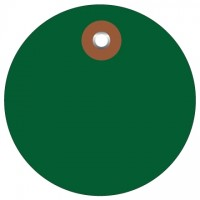 Green Plastic Circle Tags - 2""