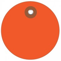 Orange Plastic Circle Tags - 2""