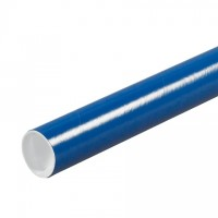 Mailing Tubes with Caps, Round, Blue, 2 x 24""