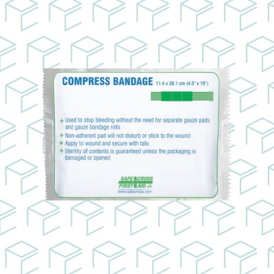 Compress Bandage with Stretch Gauze Tails