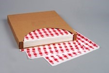Red Checkered Paper Basket Liner Sheets, 15 x 16