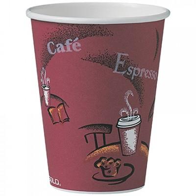 Solo® Paper Hot Cups, Bistro Design, 12 oz.