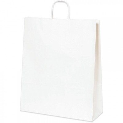 White Paper Shopping Bags, Queen - 16 x 6 x 19 1/4