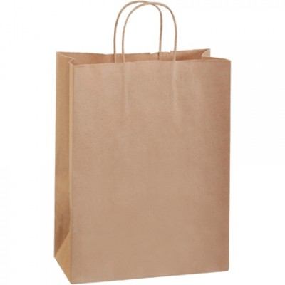 Kraft Paper Shopping Bags, Debbie - 10 x 5 x 13