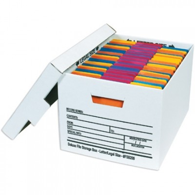 Quick File Storage Boxes, 15 x 12 x 10