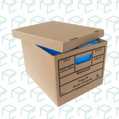 Storage File Boxes - 24 Pack