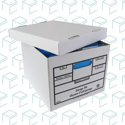 Heavy Duty White File Storage Boxes - 20 Pack