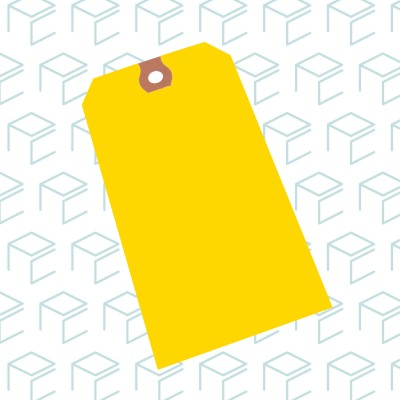 Yellow Tags - Case of 1000
