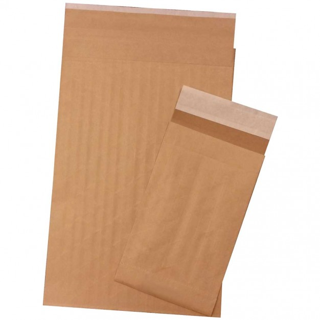 "Eco-Friendly Mailer Bags, Reinforced, 12 1/2 x 4 x 20"", Gusseted"