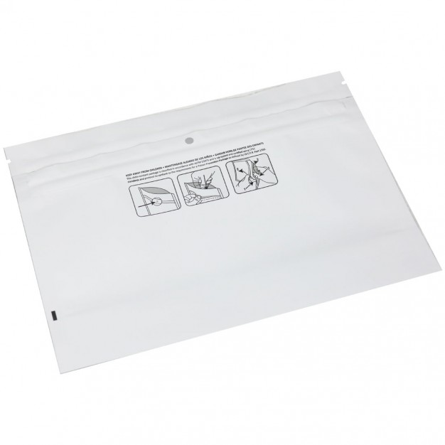 "Medjacket™ Child-Resistant Reclosable Pouch - 8 x 6 x 2"""