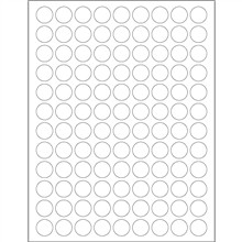 """White Removable Circle Laser Labels, 3/4"""""""