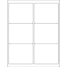 """White Weather-Resistant Laser Labels, 4 x 3 1/3"""""""