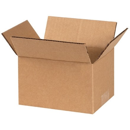 "Corrugated Boxes, 6 x 4 x 3"", Kraft"