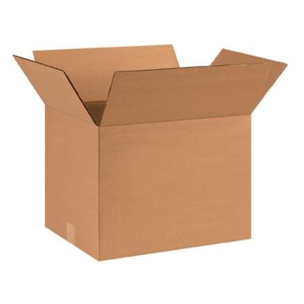 "Single Wall Corrugated Boxes, 16 x 12 x 12"", 44 ECT"