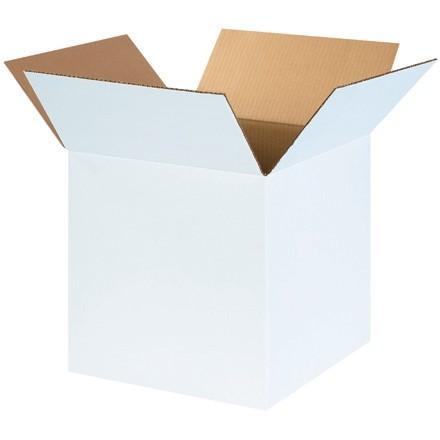 "White Corrugated Boxes, 14 x 14 x 14"", Cube"