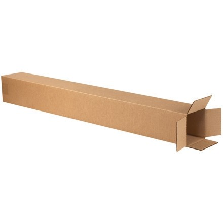 "Corrugated Boxes, 4 x 4 x 38"", Kraft"