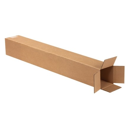 "Corrugated Boxes, 4 x 4 x 32"", Kraft"