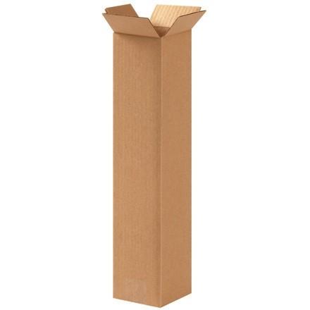 "Corrugated Boxes, 4 x 4 x 18"", Kraft"