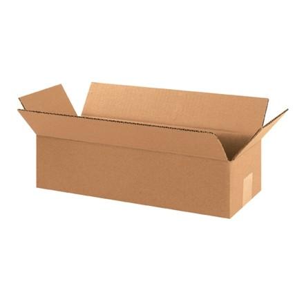 "Corrugated Boxes, 12 x 4 x 4"", Kraft"