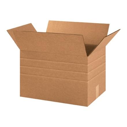 "Corrugated Boxes, Multi-Depth, 18 x 12 x 12"", Kraft"