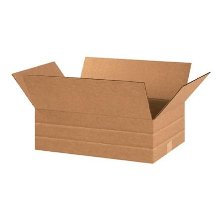 "Corrugated Boxes, Multi-Depth, 18 x 12 x 6"", Kraft"