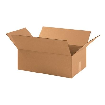 "Corrugated Boxes, 17 1/4 x 11 1/2 x 6"", Kraft"
