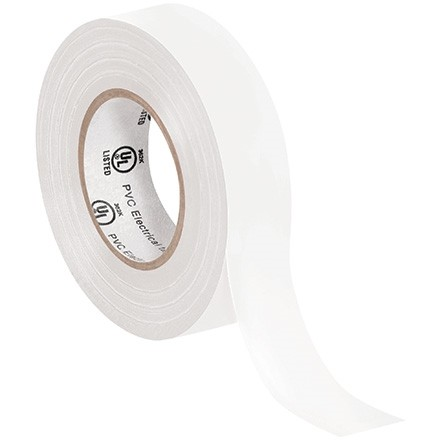 "Electrical Tape, 3/4"" x 20 yds., White"