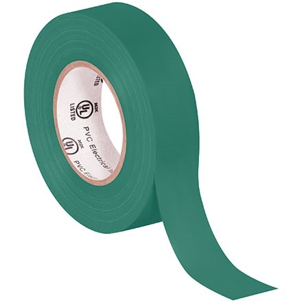 """Electrical Tape, 3/4"""" x 20 yds., Green"""