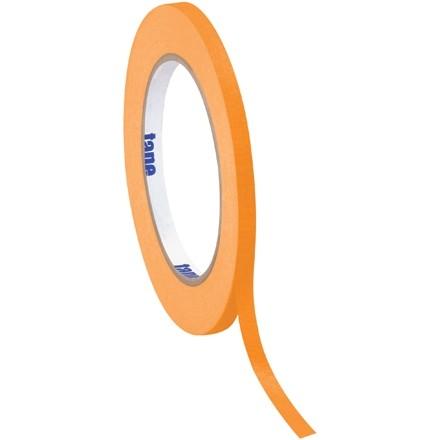 """Orange Masking Tape, 1/4"""" x 60 yds., 4.9 Mil Thick"""