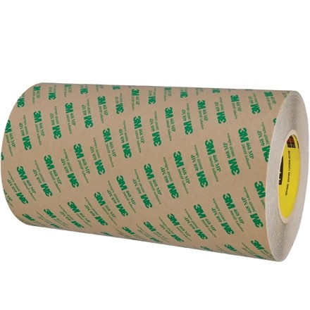 """3M 468MP High Performance Adhesive Transfer Tape, 12"""" x 60 yds., 5 Mil Thick"""