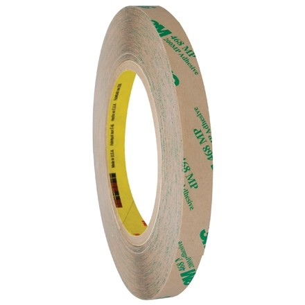 """3M 468MP High Performance Adhesive Transfer Tape, 1/2"""" x 60 yds., 5 Mil Thick"""