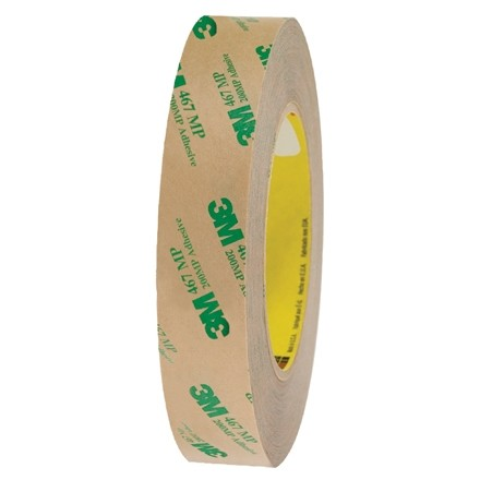 """3M 467MP High Performance Adhesive Transfer Tape, 1"""" x 60 yds., 2 Mil Thick"""