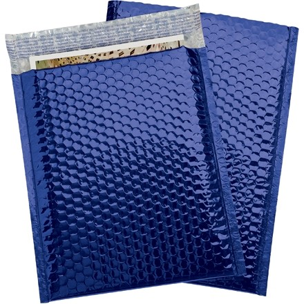 Glamour Bubble Mailers, Blue, 9 x 11 1/2""