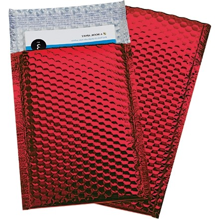 """Glamour Bubble Mailers, Red, 7 1/2 x 11"""""""