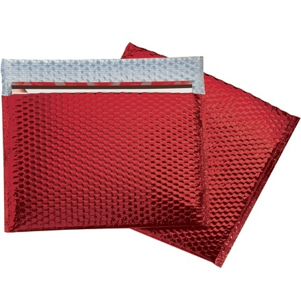 """Glamour Bubble Mailers, Red, 13 3/4 x 11"""""""